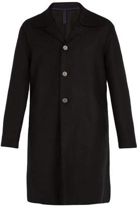 Harris Wharf London - Single Breasted Pressed Wool Overcoat - Mens - Black