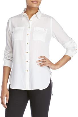 Calvin Klein Button-Down Tunic