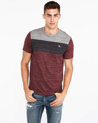 Express Small Lion Color Block Crew Neck Tee
