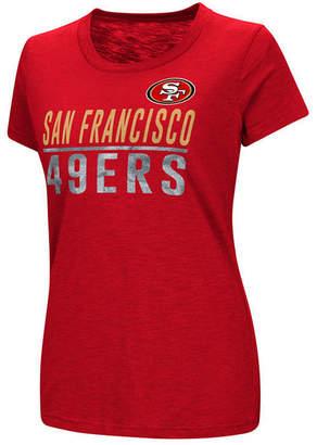 G-iii Sports Women's San Francisco 49ers Dynasty Stacked Glitter T-Shirt