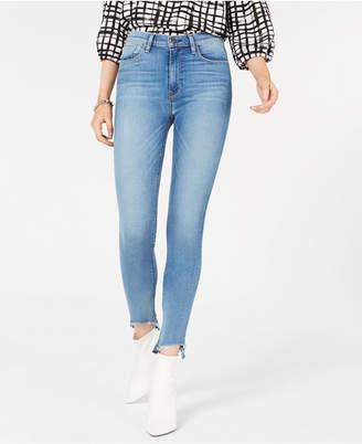 Hudson Jeans Barbara Asymmetrical-Hem Skinny Jeans