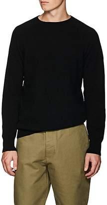 Margaret Howell Men's Wool-Cashmere Saddle-Shoulder Sweater - Black