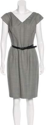 Michael Kors Houndstooth Knee-Length Dress