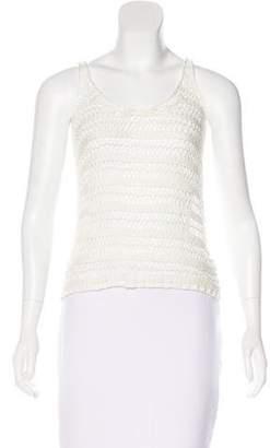 BCBGMAXAZRIA Crochet Sleeveless Top