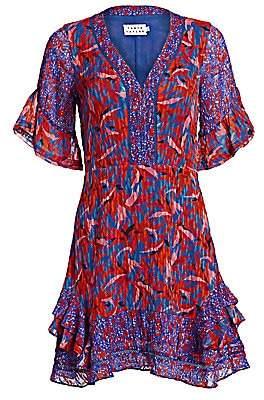 Tanya Taylor Women's Kayla Mixed Print Ruffled Mini Dress - Size 0