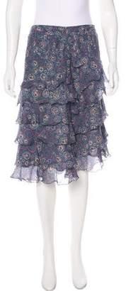Marc Jacobs Ruffled Silk Skirt