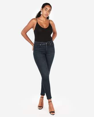 Express High Waisted Dark Wash Perfect Curves Jean Leggings