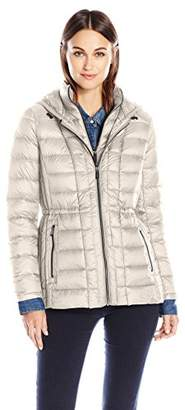 London Fog Women's Packable Down with Removable Hood