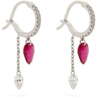 RAPHAELE CANOT Set Free diamond, ruby & white-gold earrings