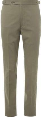 Drakes Drake's Green Easyday Cotton-canvas Suit Trousers