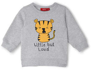 Sprout NEW Boys Crew Neck Sweat - Tiger/ Grey Marle ESS TBL