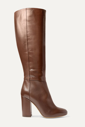 Tabitha Simmons Sophie Leather Knee Boots - Dark brown