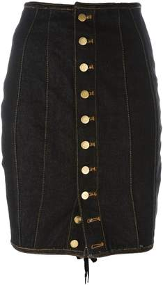 Jean Paul Gaultier Pre-Owned Junior Gaultier laced pencil skirt