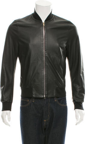 Paul SmithPaul Smith Perforated Leather Bomber Jacket