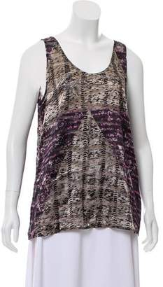 The Kooples Burn Out Sleeveless Top