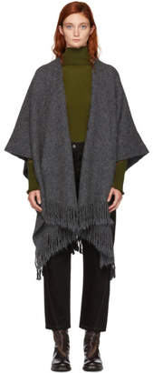 LAUREN MANOOGIAN Grey Serape Shawl Cardigan