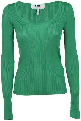 MSGM Ribbed Knit Sweater