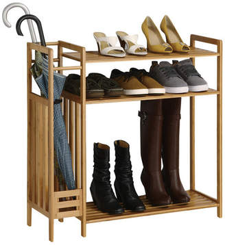 Rebrilliant Utility Entryway 9 Pair Shoe Rack
