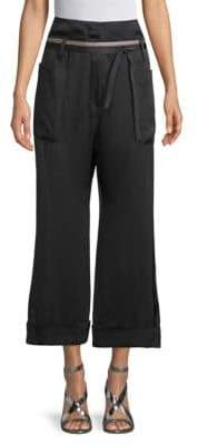 Brunello Cucinelli Cropped Wide-Leg Pants