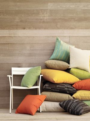 Maharam Outdoor Pillows in Paver Fabric