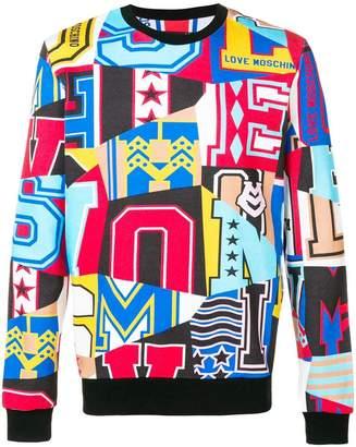Love Moschino all-over print graphic sweatshirt