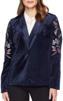 Tribal Embroidered Velvet Jacket