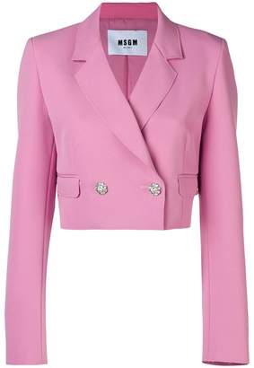 MSGM cropped blazer