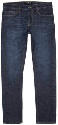 DSTLD Mens Skinny-Slim Jeans in Six-Month Dark Worn