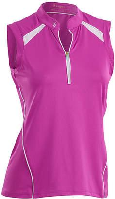 Asstd National Brand Nancy Lopez Golf Sporty Sleeveless Polo Plus