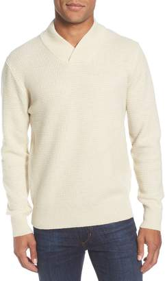 Schott NYC Waffle Knit Thermal Wool Blend Pullover