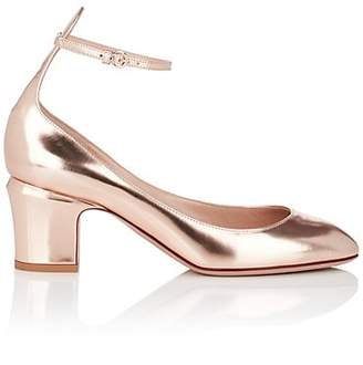 Valentino WOMEN'S METALLIC LEATHER ANKLE