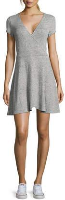 Arizona Short Sleeve Wrap Dress-Juniors