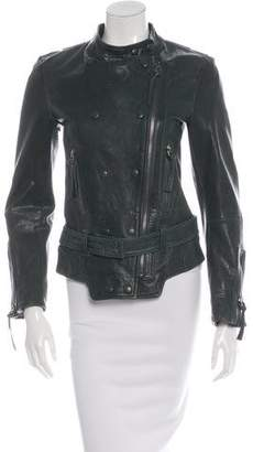 Barbara Bui Double-Breasted Leather Jacket