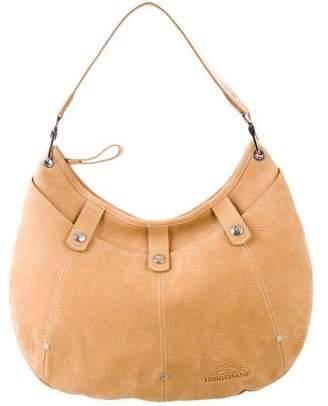 Longchamp Suede Hobo Bag
