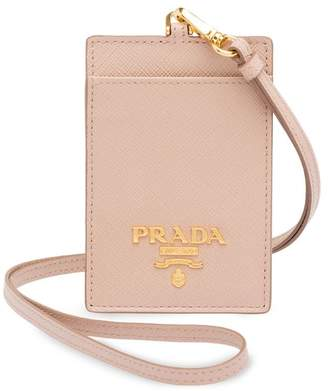 b9a6cc5377c5e0 Prada Saffiano leather badge holder