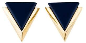 Givenchy Resin Triangular Clip-On Earrings