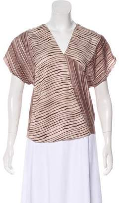 Bottega Veneta Printed Short Sleeve Top