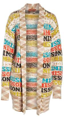 Missoni Logo Knit Wool Blend Cardigan