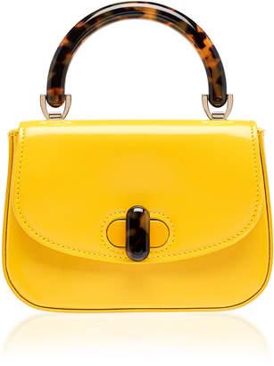 Edie Parker Tortoise-Detail Leather Mini Bag