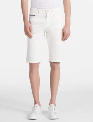 Calvin Klein slim fit white jean shorts