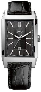 HUGO BOSS Men's Rectangular Stainless Steel Watch