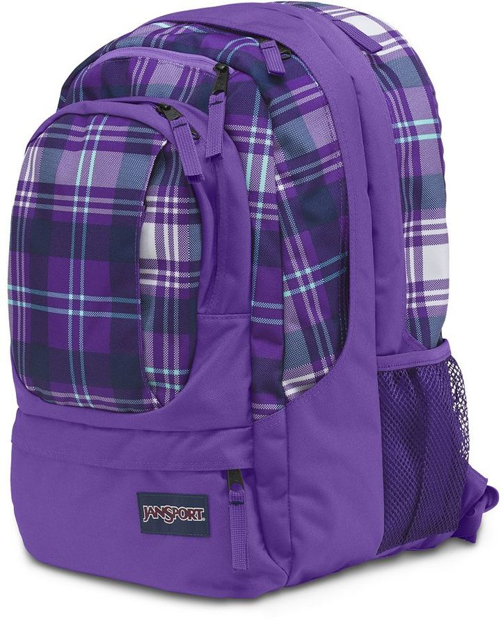 JanSport air cure plaid 15-in. laptop backpack
