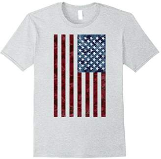 Camouflage American Flag Red Blue Graphic T-Shirt