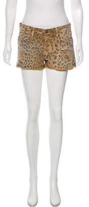 Current/Elliott Denim Animal Print Shorts