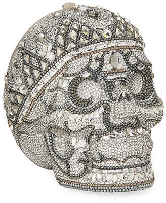 Judith Leiber Couture Katerina Crystal Skull Clutch Bag