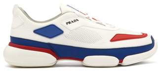 Prada Cloudbust Knitted Low Top Trainers - Mens - White Multi