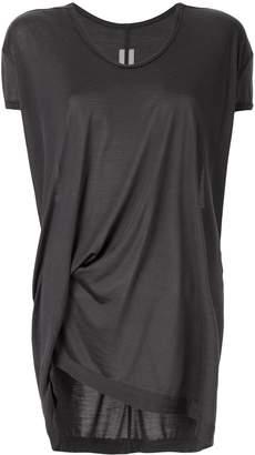 Rick Owens asymmetric ruched T-shirt