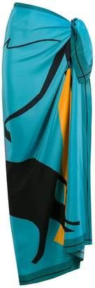 Adriana Degreas silk Meow sarong