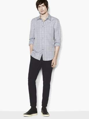 John Varvatos Plaid Roll-Sleeve Shirt