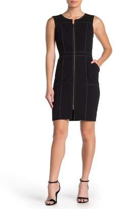 Tommy Hilfiger Sleeveless Zip Front Sheath Dress